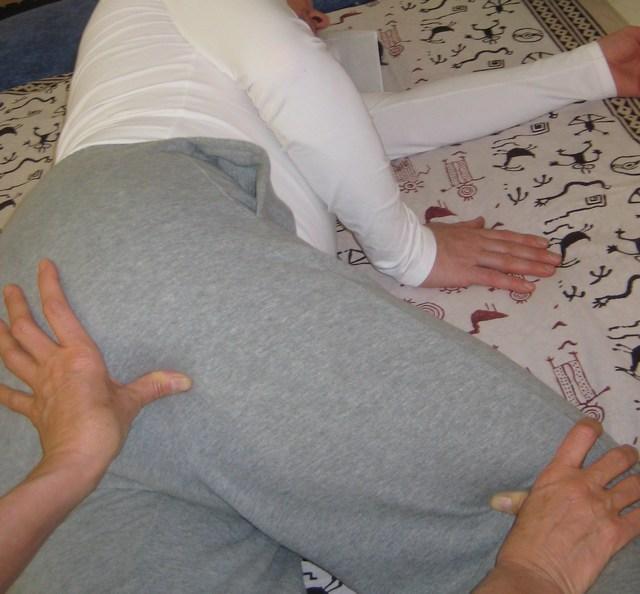 Trattamento Shiatsu posizione laterale