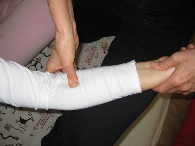 Trattamento Shiatsu, braccio