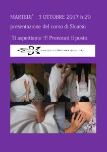 Presentazione corso Shiatsu a Padova