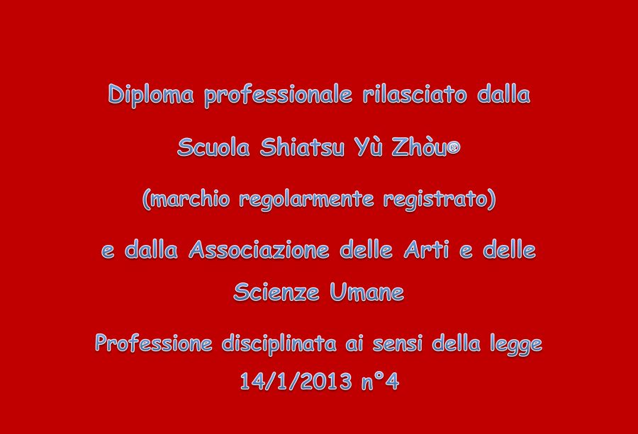 Diploma Shiatsu Yù Zhòu